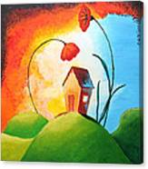 Nature Spills Colour On My House Canvas Print