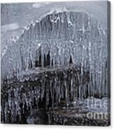 Natures Frozen Cathedral Sculpture Canvas Print