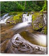 Nature's Water Slide Tilt Shift Canvas Print