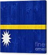 Nauru Flag Canvas Print
