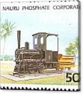 Nauru Island Stamp Canvas Print