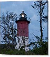 Nauset Lighthouse Amid The Scrub Pines Canvas Print