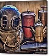 Nautical - Antique Dive Helmet Canvas Print