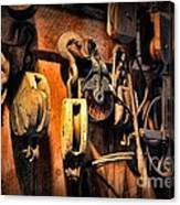 Nautical - Boat - Block And Tackle  Canvas Print