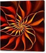 Nautilus Fractalus Fire Canvas Print