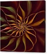 Nautilus Fractalus Tropical Canvas Print