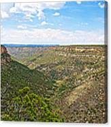Navajo Canyon Overlook On Chapin Mesa Top Loop Road In Mesa Verde National Park-colorado Canvas Print