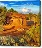 Navajo Hogan Canyon Dechelly Nps Canvas Print