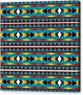 Navajo Teal Pattern Canvas Print