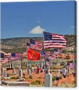 Navajo Veteran's Memorial Cemetery Tsehootsooi Canvas Print
