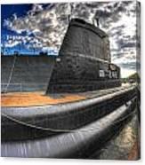 Naval Base At Erie Basin Marina Canvas Print