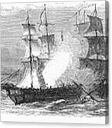 Naval Battle, 1779 Canvas Print