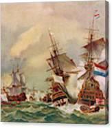 Naval Battle Off Texel A French Fleet Canvas Print