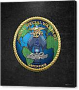 Naval Special Warfare Group Four - N S W G-4 - On Black Canvas Print