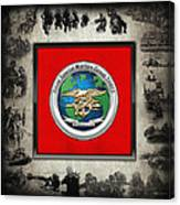 Naval Special Warfare Group Three - N S W G-3 - Over Navy S E A Ls Collage Canvas Print