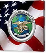 Naval Special Warfare Group Three - N S W G-3 - Over U. S. Flag Canvas Print