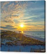Navarre Beach Sunrise 2014 09 26 01 C 0650 Canvas Print