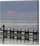Navarre Beach Sunset Pier 14 Canvas Print