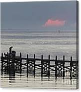 Navarre Beach Sunset Pier 16 Canvas Print