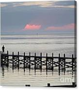 Navarre Beach Sunset Pier 17 Canvas Print