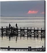 Navarre Beach Sunset Pier 18 Canvas Print