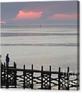 Navarre Beach Sunset Pier 20 Canvas Print