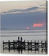 Navarre Beach Sunset Pier 22 Canvas Print