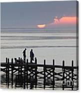 Navarre Beach Sunset Pier 27 Canvas Print