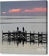 Navarre Beach Sunset Pier 28 Canvas Print