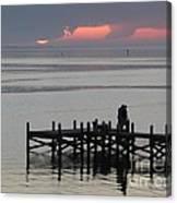 Navarre Beach Sunset Pier 29 Canvas Print