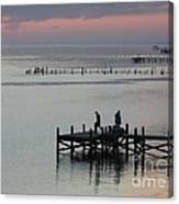 Navarre Beach Sunset Pier 30 Canvas Print
