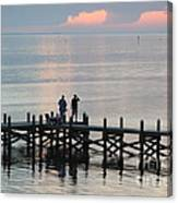 Navarre Beach Sunset Pier 35 Canvas Print