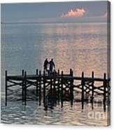 Navarre Beach Sunset Pier 37 Canvas Print