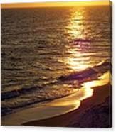 Navarre Sunset Surf Canvas Print