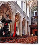 Nave Of The Church Of Our Lady Canvas Print