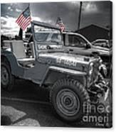 Navy Jeep Canvas Print