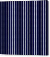 Navy Pinstripe 1 Canvas Print