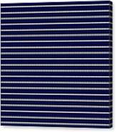 Navy Pinstripe 2 Canvas Print