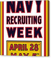 Navy Recruiting Week  Canvas Print