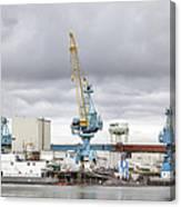 Navy Yard Cranes Canvas Print