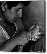 Nazca Stone Cutter Canvas Print