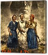 Nazi War Propaganda Poster Canvas Print