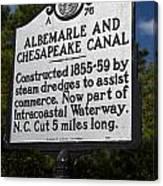 Nc-a76 Albemarle And Chesapeake Canal Canvas Print
