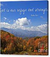 Nc Mountains With Scripture Canvas Print