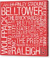 Nc State College Colors Subway Art Canvas Print