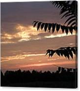 Nc Sunset Canvas Print