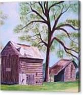 Nc Tobacco Barns Canvas Print