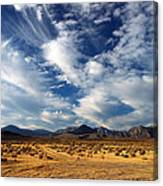 Near The Intersection Of God And The Eastern Sierras Canvas Print