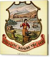 Nebraska Coat Of Arms -1876 Canvas Print
