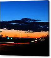 Nebraska Highway Sunset Canvas Print